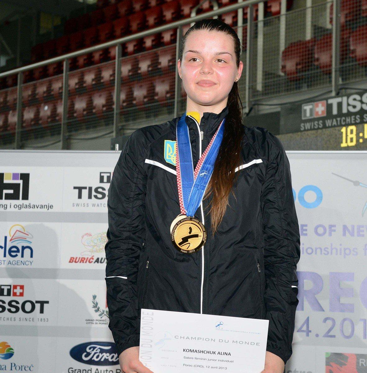Алiна Комащук –  лауреат «Спортивного сузiр'я-2016»